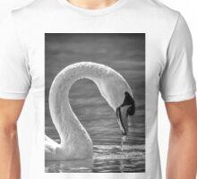 Swan water droplets Unisex T-Shirt