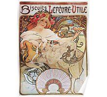 Alphonse Mucha - Biscuits Lefevre Utile Poster