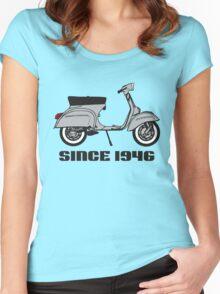 mod mods vespa motor bike retro vintage punk rock pop Women's Fitted Scoop T-Shirt