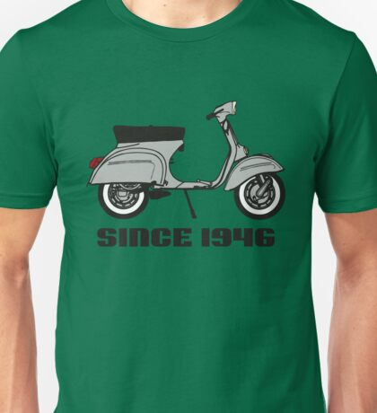 mod mods vespa motor bike retro vintage punk rock pop Unisex T-Shirt