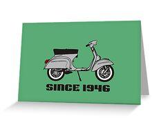 mod mods vespa motor bike retro vintage punk rock pop Greeting Card