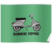 mod mods vespa motor bike retro vintage punk rock pop Poster