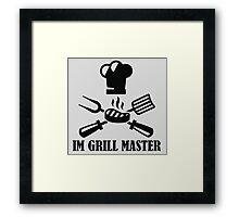 #10 IM GRILL MASTER (Black) Framed Print