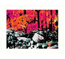 Sunfire Forest Art Print
