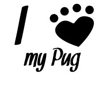I Heart My Pug by kwg2200