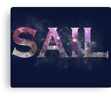 Galaxy Sail Canvas Print