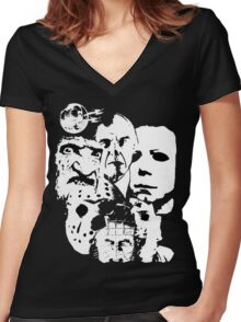 Horror Icons! Women's Fitted V-Neck T-Shirt