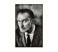 Vincent Price Hollywood Actor Art Print