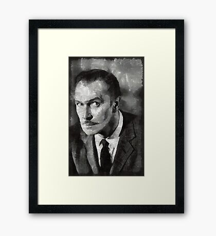 Vincent Price Hollywood Actor Framed Print