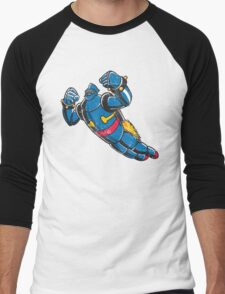 Gigantor the space age robot - grungy Men's Baseball ¾ T-Shirt
