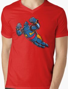 Gigantor the space age robot - grungy Mens V-Neck T-Shirt