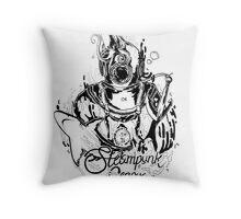 Steampunk Genova Throw Pillow