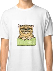 Cat in glasses and inscription Classic T-Shirt