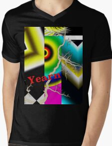 Yearn: graphic depiction how yearning sabotages Mens V-Neck T-Shirt