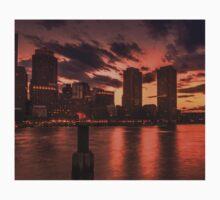 Red sun-dusk in Boston, MA  T-Shirt