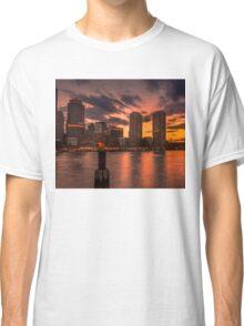 Red sun-dusk in Boston, MA  Classic T-Shirt