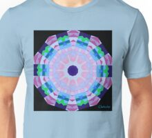 PASTEL MANDALA WITH INDIGO CENTER Unisex T-Shirt