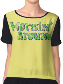 Horsin' Around Vintage T-shirt  Chiffon Top