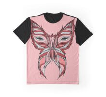 Pink and red butterfly Graphic T-Shirt