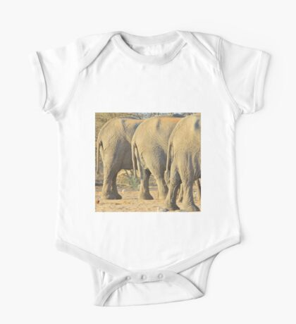 Elephant Diet Clinic - Funny African Wildlife One Piece - Short Sleeve