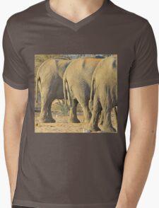 Elephant Diet Clinic - Funny African Wildlife Mens V-Neck T-Shirt