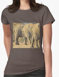 Elephant Diet Clinic - Funny African Wildlife Womens Fitted T-Shirt