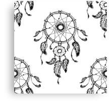 Hand-drawn dreamcatcher with feathers Canvas Print