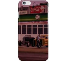 Mural of Trolley and Hot Rods, FRANKLIN, OHIO iPhone Case/Skin