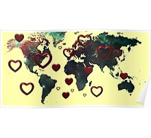 Love world map  Poster