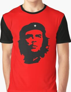 Che, Guevara, Rebel, Revolution, Marxist, Revolutionary, Cuba, Power to the people! Black on Red Graphic T-Shirt