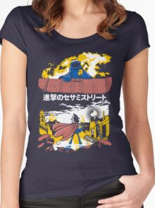 Attack on S. Street Women's Fitted Scoop T-Shirt
