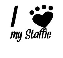 I Heart My Staffie Photographic Print