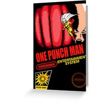 One Punch Man Greeting Card