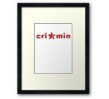 Crimin Brand Framed Print