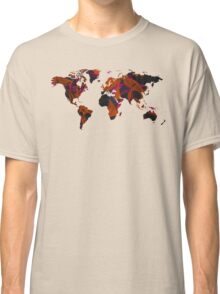 World map composition Classic T-Shirt