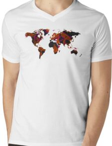 World map composition Mens V-Neck T-Shirt
