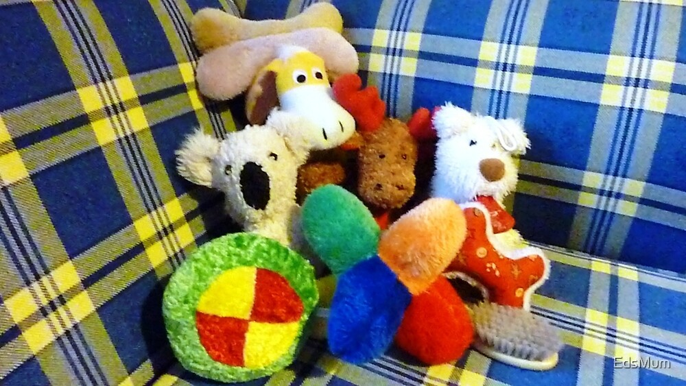 Eddie's Toys - sit on settee in Family room by EdsMum