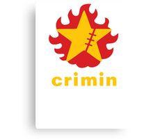 Crimin Brand Fire Star Canvas Print