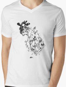 Spewing penguin Mens V-Neck T-Shirt