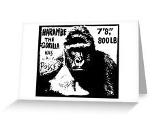 Harambe the Gorilla Has a Posse Greeting Card