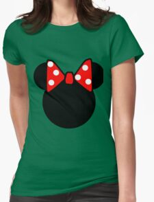 Minnie Mouse head Womens Fitted T-Shirt