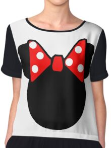 Minnie Mouse head Chiffon Top