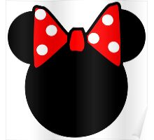 Minnie Mouse head Poster