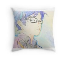 Kousei Arima Watercolor Throw Pillow