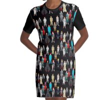 Retro Vintage Fashion 19 Graphic T-Shirt Dress