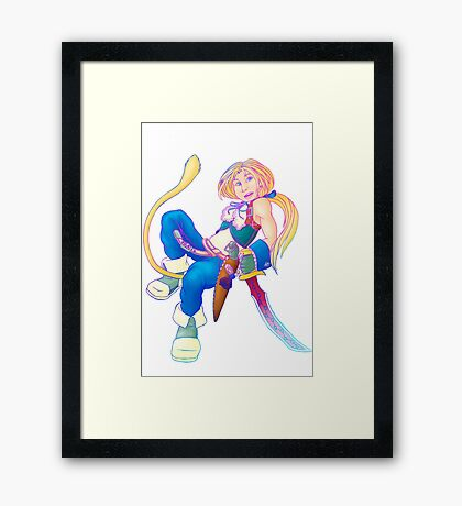 Zidane doing a floaty thing Framed Print