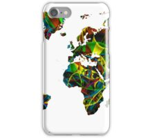 World map composition 1 iPhone Case/Skin