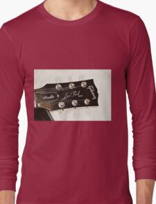 Gibson Guitar Headstock Photograph Long Sleeve T-Shirt
