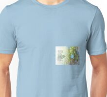 Serenity Prayer Morning Glories and Fence Unisex T-Shirt