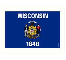 Wisconsin State Flag Art Print